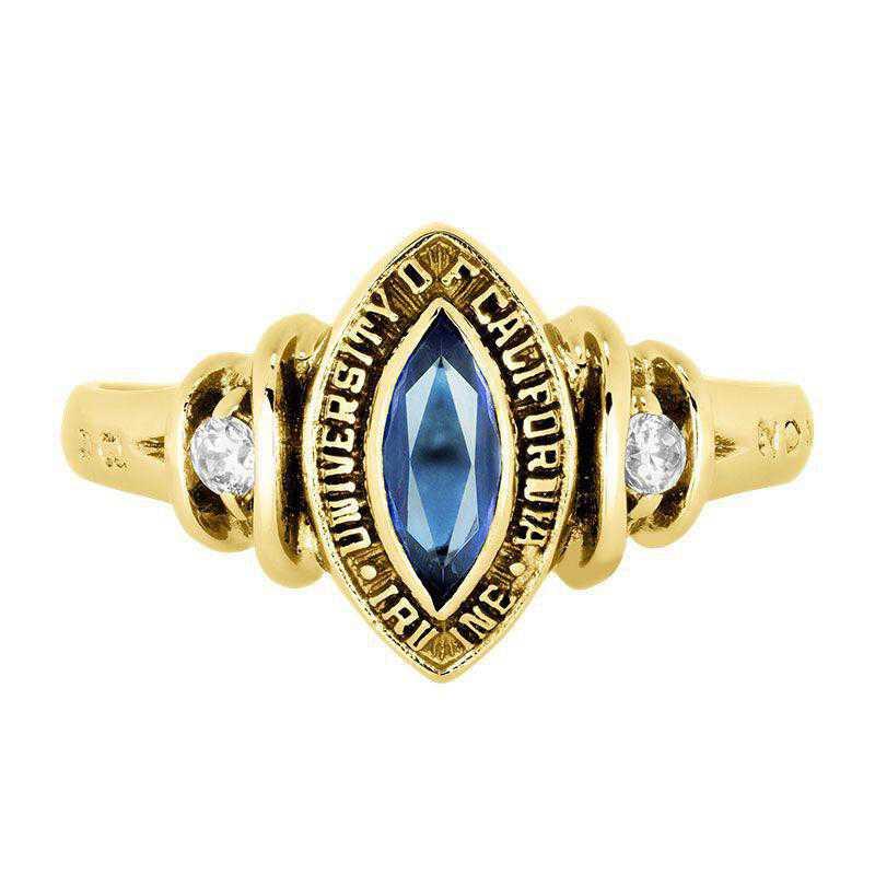 California Irvine Duet with Diamonds and Birthstone Ring