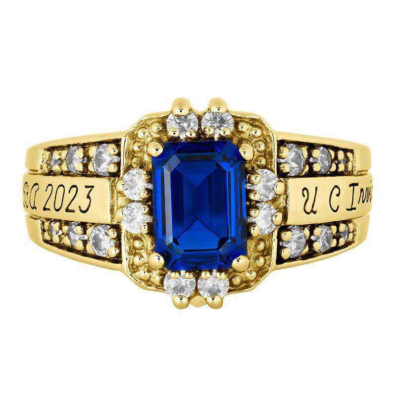 California Irvine Women's Illusion Ring College Ring