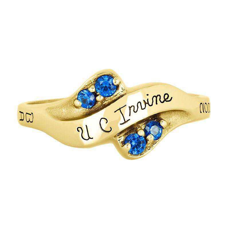 California Irvine Seawind with Diamonds and Birthstone Ring