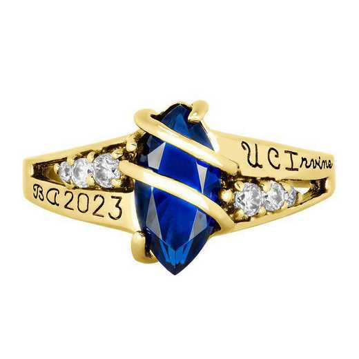 California Irvine Women's Windswept Ring College Ring