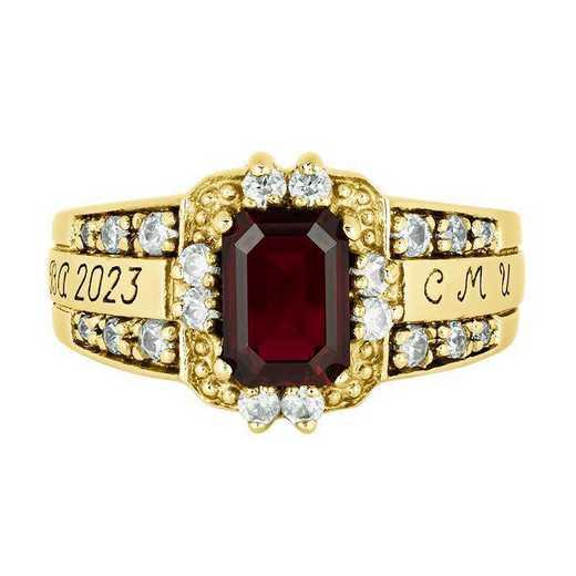 Central Michigan University Women's Illusion  College Ring