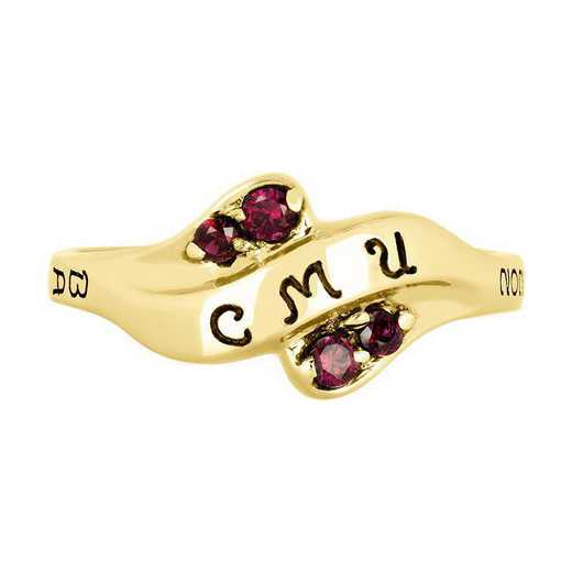 Central Michigan University Women's Seawind  with Diamonds and Birthstone College Ring