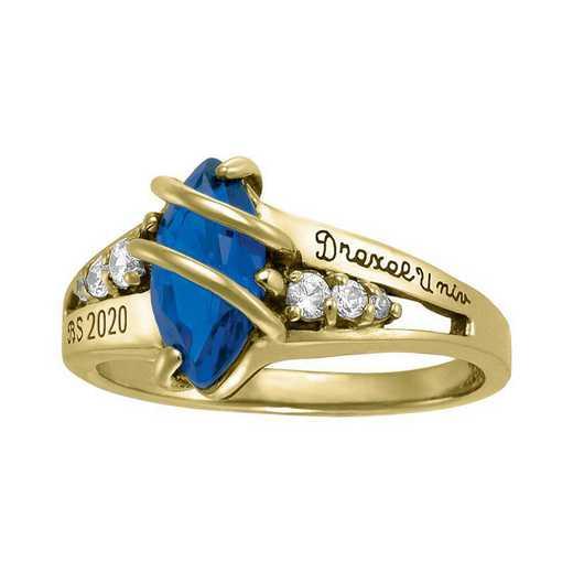 Drexel University Women's Windswept Ring