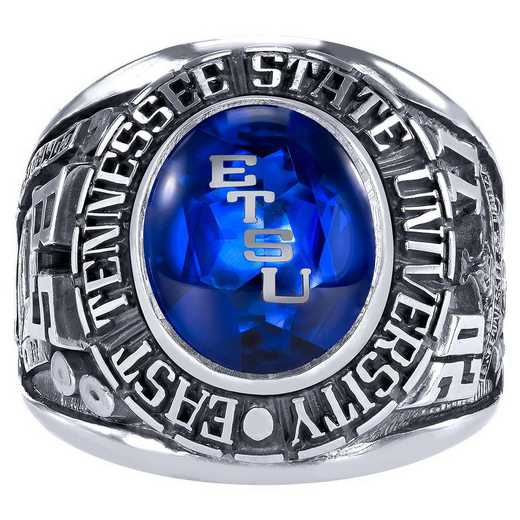 East Tennessee State University Men's Large Traditional (876Pl1) Ring