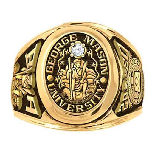 George Mason University Men's Collegian with .10CT Diamond College Ring