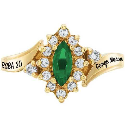George Mason University Women's Allure College Ring
