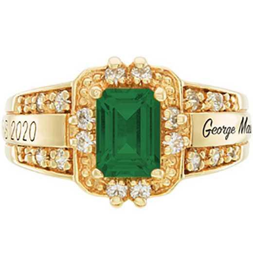 George Mason University Women's Illusion College Ring