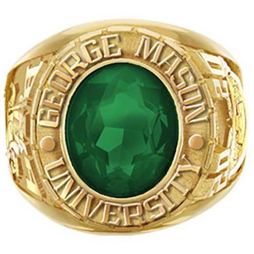 George Mason University Men's Large Traditional Cushion-Cut College Ring