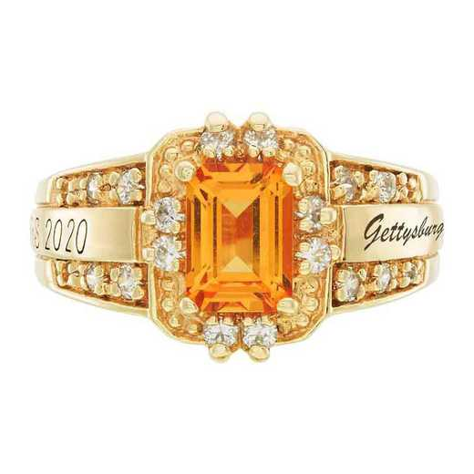 Gettysburg College Women's Illusion College Ring