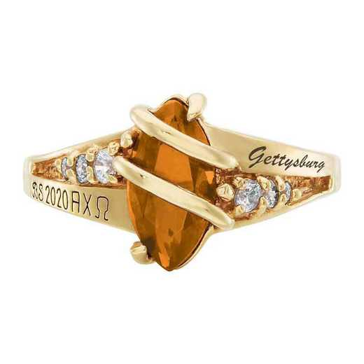 Gettysburg College Women's Windswept College Ring