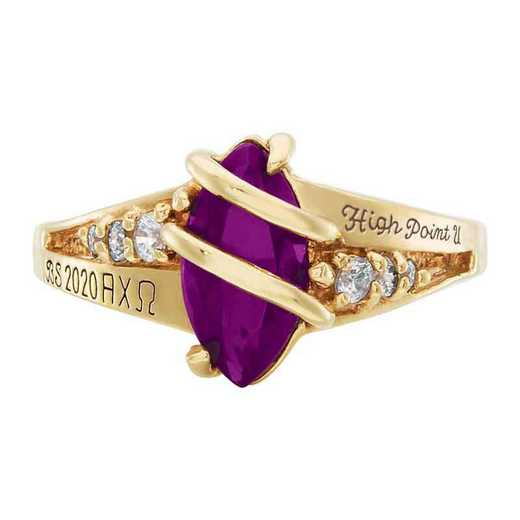 High Point University Women's Windswept College Ring