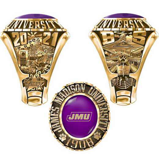 James Madison University Class Of 2021 Men's Traditional 876PL Traditional with Oval Stone