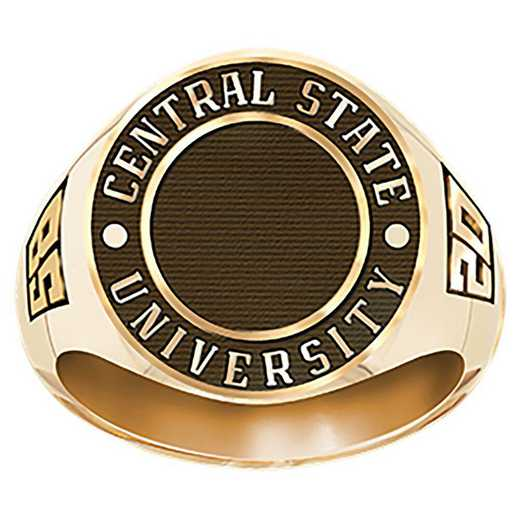 Men's Round Medallion Signet Ring