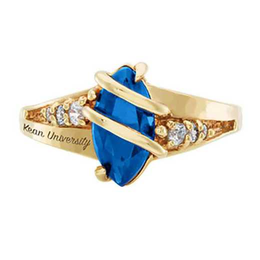 Kean University Women's Windswept College Ring