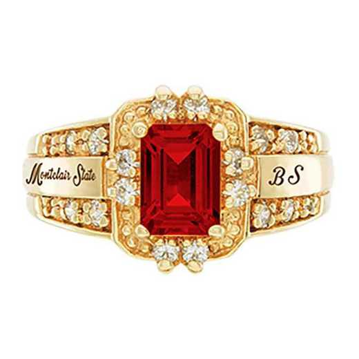 Montclair State University Women's Illusion College Ring