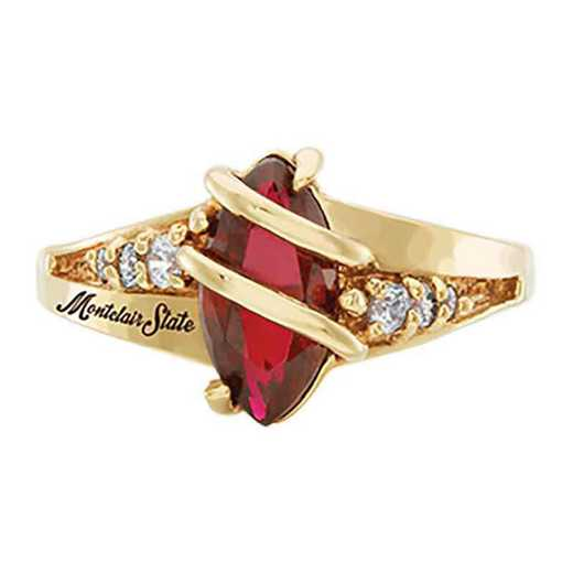 Montclair State University Women's Windswept College Ring