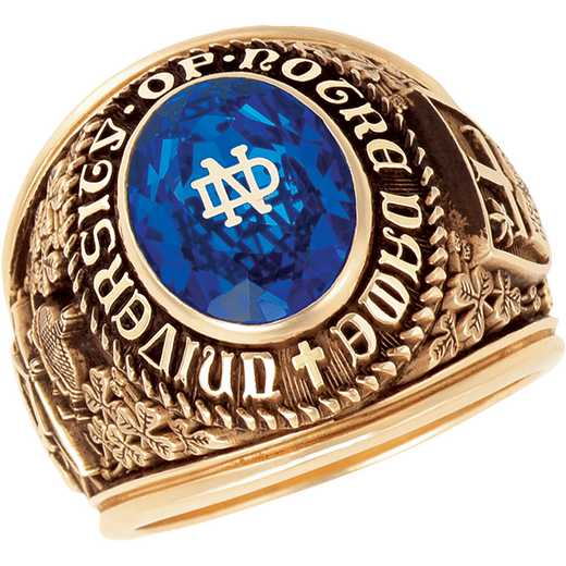 University of Notre Dame Men's B355L ND Old Style (Pre '72) Ring