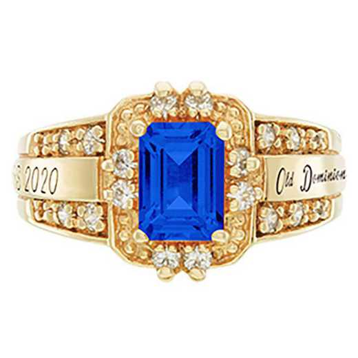 Old Dominion University Women's Illusion College Ring
