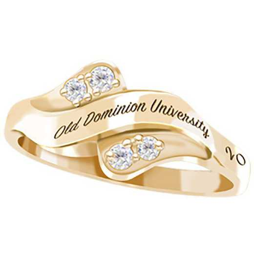 Old Dominion University Women's Seawind with Diamonds and Birthstone College Ring