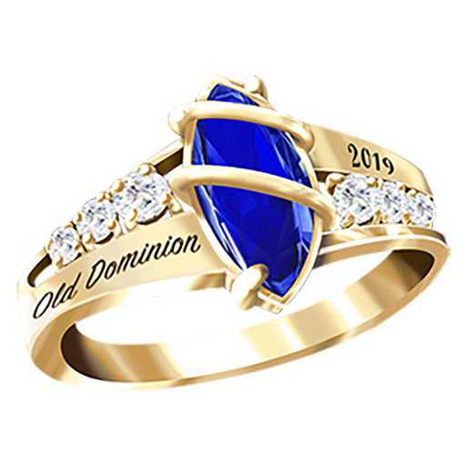 Old Dominion University Women's Windswept College Ring