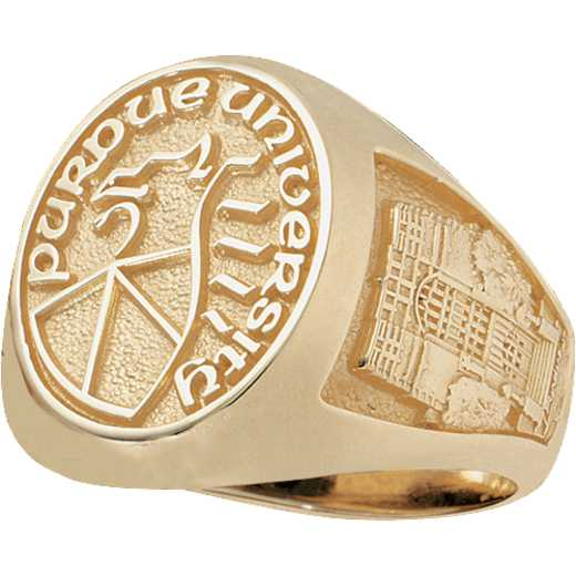 Purdue University Follett West Bookstore Men's Large Signet Ring