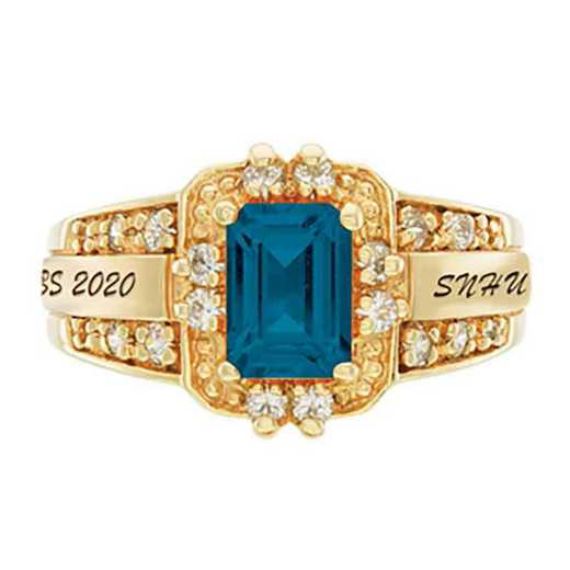 Southern New Hampshire University Women's Illusion College Ring