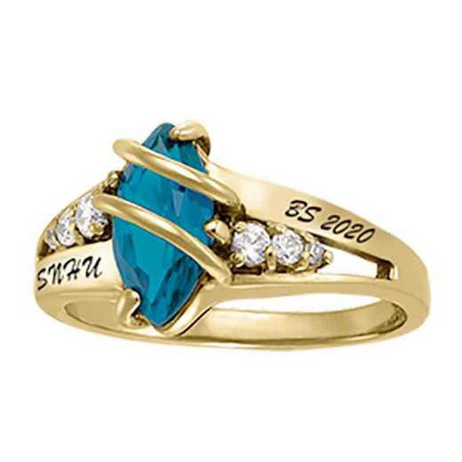 Southern New Hampshire University Women's Windswept College Ring