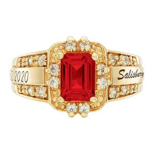 Salisbury University Women's Illusion College Ring