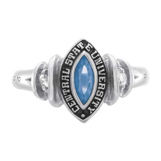 Salem State University Women's Duet Ring with Cubic Zirconias