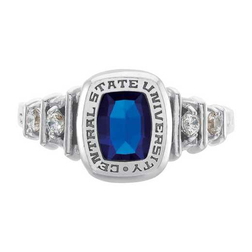 Salem State University Women's Highlight Ring with Diamond