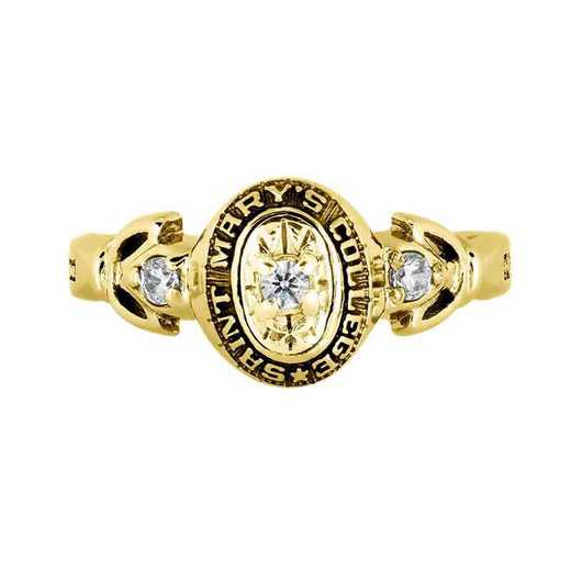 Saint Mary's College of California Women's Twilight Ring with Diamond Top