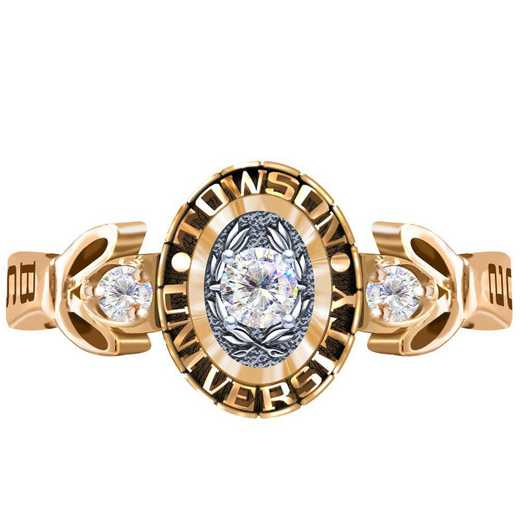 Towson University Twilight Ring with Diamond Top - Women's