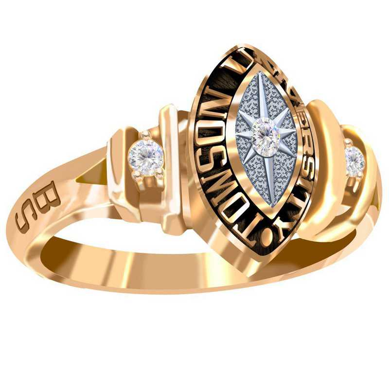 Towson University Duet Ring - Women's
