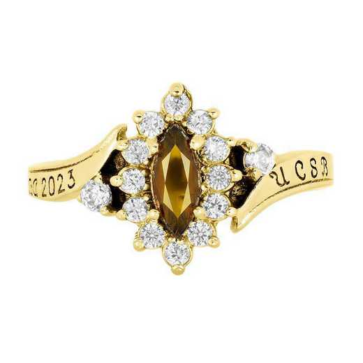 University of California at Santa Barbara Women's Allure Ring with Cubic Zirconias