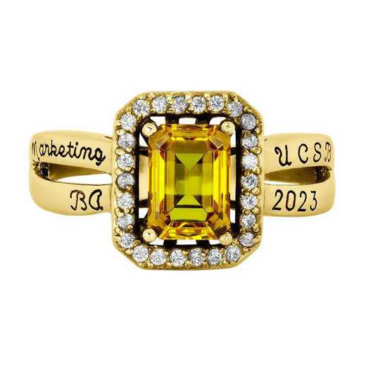 University of California at Santa Barbara Women's Inspire Ring with Diamonds
