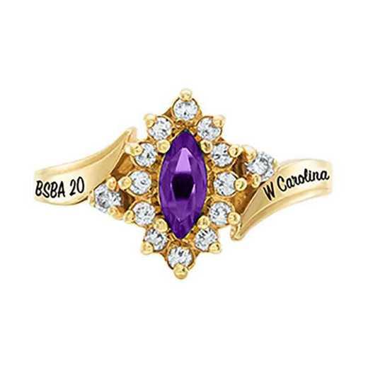 Western Carolina University Women's Allure College Ring