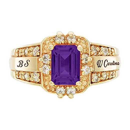 Western Carolina University Women's Illusion College Ring
