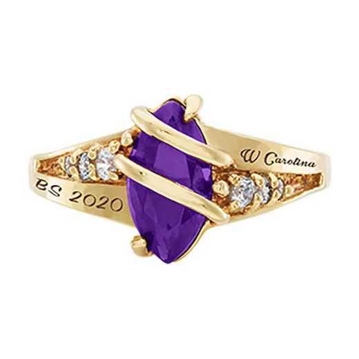 Western Carolina University Women's Windswept College Ring