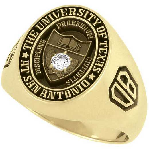 UTSA Men's Large Single Stone Signet Ring