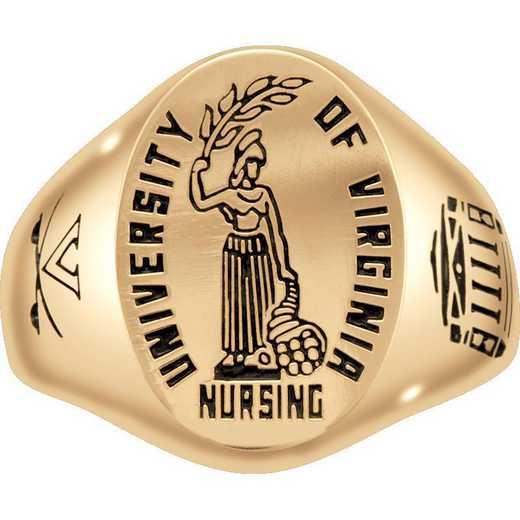 University of Virginia School of Nursing Men's Etched Signet Ring