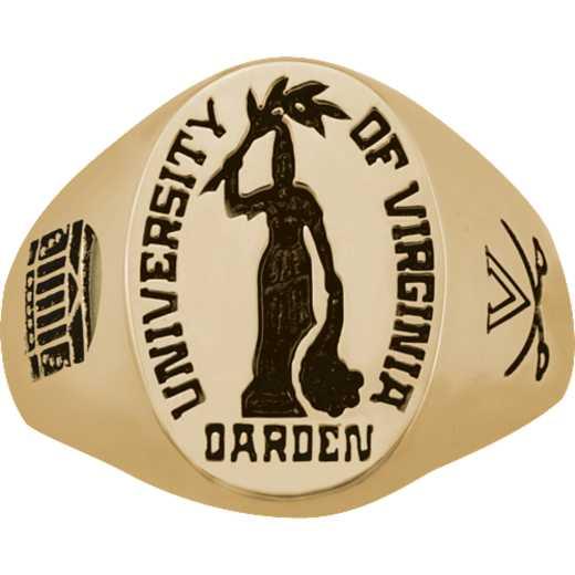 University of Virginia Darden School of Business Men's Large Signet Ring