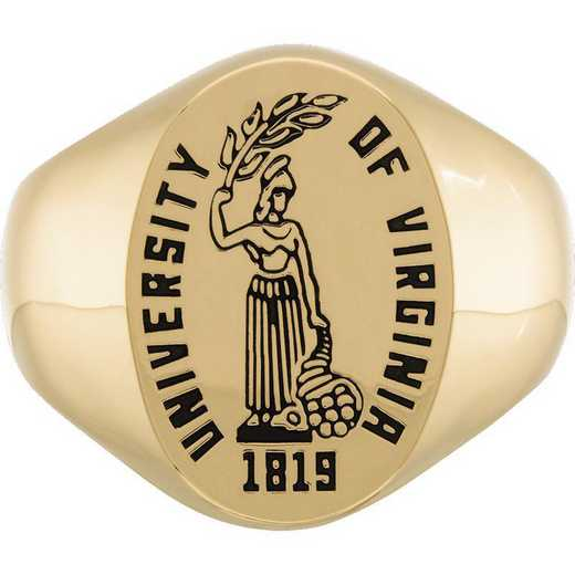 University of Virginia Men's Etched Signet Ring