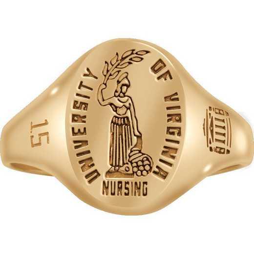 University of Virginia School of Nursing Women's Small Etched Signet Ring