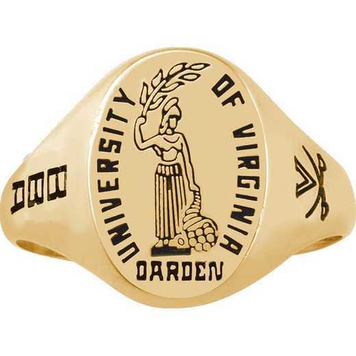University of Virginia Darden School of Business Women's Etched Signet Ring