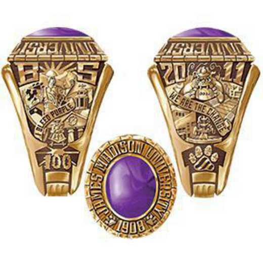 James Madison University Class Of 2011 Men's Traditional with Oval Stone