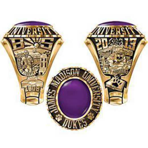 James Madison University Class Of 2013 Men's Traditional with Oval Stone