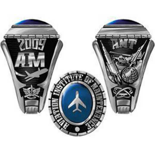 Aviation Institute of Maintenance Houston Men's Traditional Ring (Standard Shank Only)