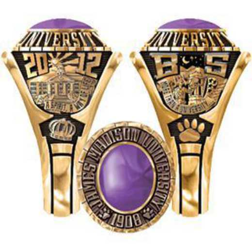 James Madison University Class of 2012 Women's Traditional Ring