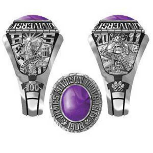 James Madison University Class of 2011 Women's Traditional Ring