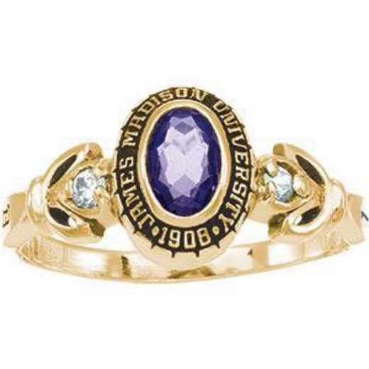 James Madison University Class of 2011 Women's Twilight Ring with Cubic Zirconias